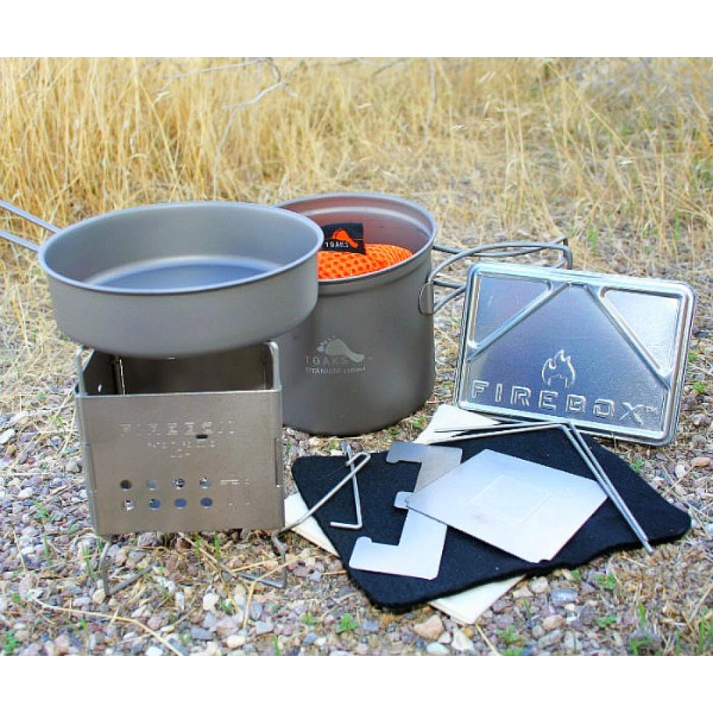 Backpackers Titanium Ultralight Nano Cook Kit
