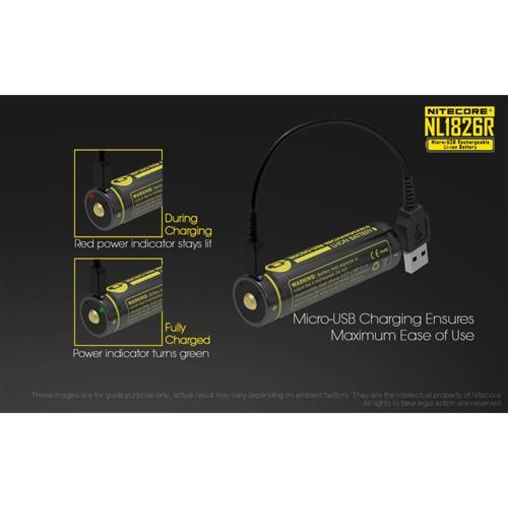 NITECORE 18650 Rechargeable Li-ion Battery