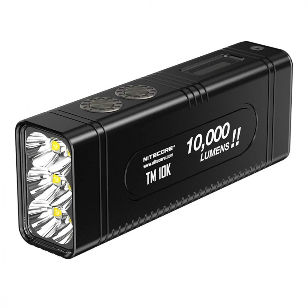 NITECORE TM10K Tiny Monster 10,000 Lumen Burst Rechargeable Flashlight; 8.7oz